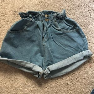Pants - Trendy denim shorts